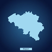 vector map of Belgium