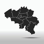 vector map of the Belgium.