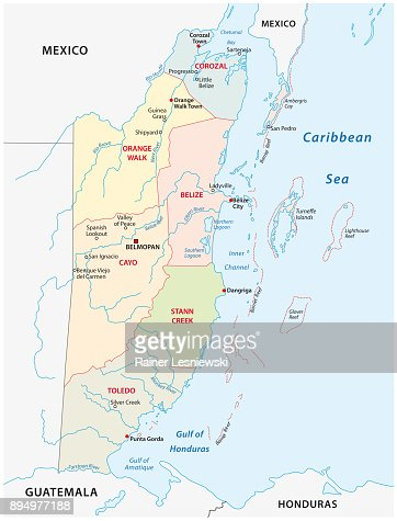 Belize Political Map.Belize Administrative And Political Map Vector Art Thinkstock
