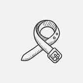 Belt sketch icon for web, mobile and infographics. Hand drawn vector isolated icon.