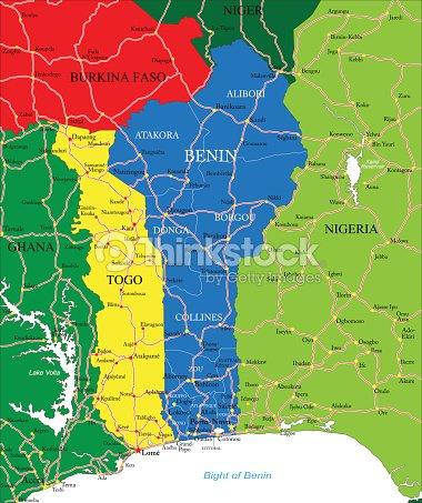 Benin Map stock vector | Thinkstock