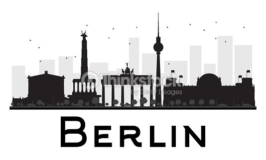 berlin city skyline schwarz und wei silhouette vektorgrafik thinkstock. Black Bedroom Furniture Sets. Home Design Ideas