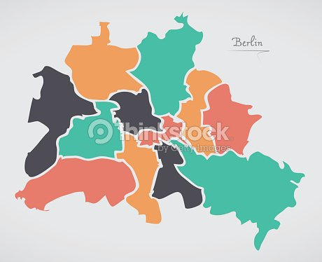 Berlin map with boroughs and modern round shapes vector art thinkstock berlin map with boroughs and modern round shapes vector art gumiabroncs Image collections