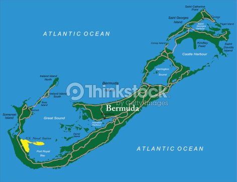 Bermuda Map stock vector | Thinkstock