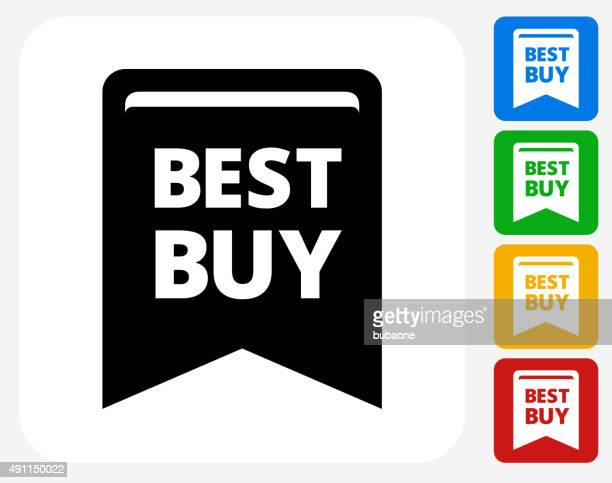 Best Buy Icon Flat Graphic Design
