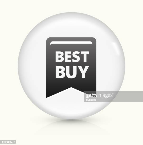Best Buy icon on white round vector button