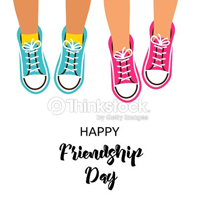 Best Friends Forever Happy Friendship Day Poster Design Banner Greeting Card Vector