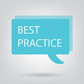 best practice written on speech bubble- vector illustration