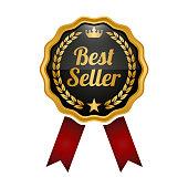 Best seller medal on white background. Vector illustration