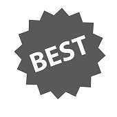Best sign icon vector simple isolated on white background
