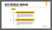 Editable presentation slide template representing best vertical timeline chart with sample text