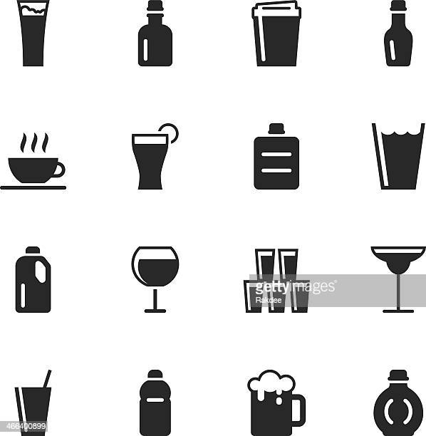 Beverage Silhouette Icons | Set 2