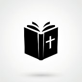 bible Icon isolated on background. Modern flat pictogram, business, marketing, internet concept.