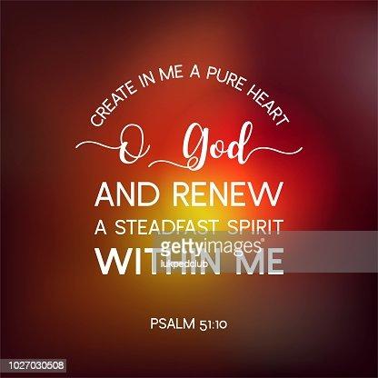 En haut Citation De La Bible De Psaume Créer En Moi Un Cœur Pur Dieu De O @JS_22