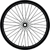 Bicycle wheel, vector eps 10