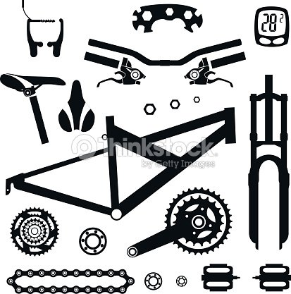 Bicycles A Set Of Bicycle Parts Vector Stock Vector Thinkstock