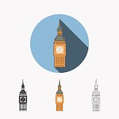 This is a vector illustration of Big Ben in Westminster, London