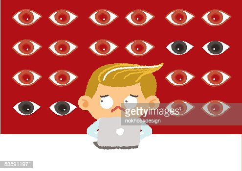 big brother concept, internet security and safety, vector Illustration : Vector Art