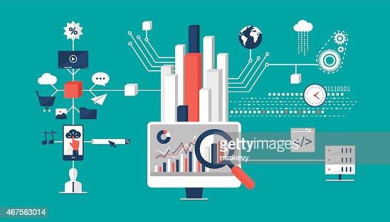 Big Data Analysis Vector Art – Data Analysis