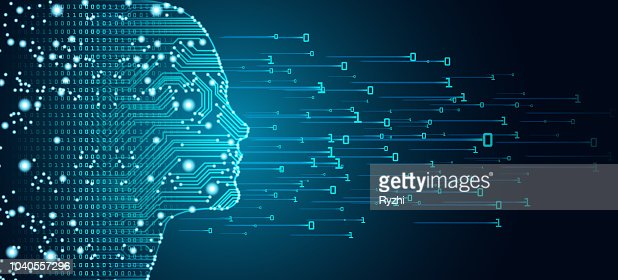 Big data and artificial intelligence concept. : stock vector