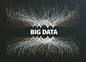 big data background vector illustration. Data streams. Infographic