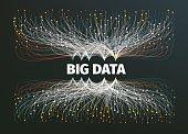 big data background vector illustration. Data streams. Infographic