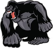 vector of Big Gorilla mascot
