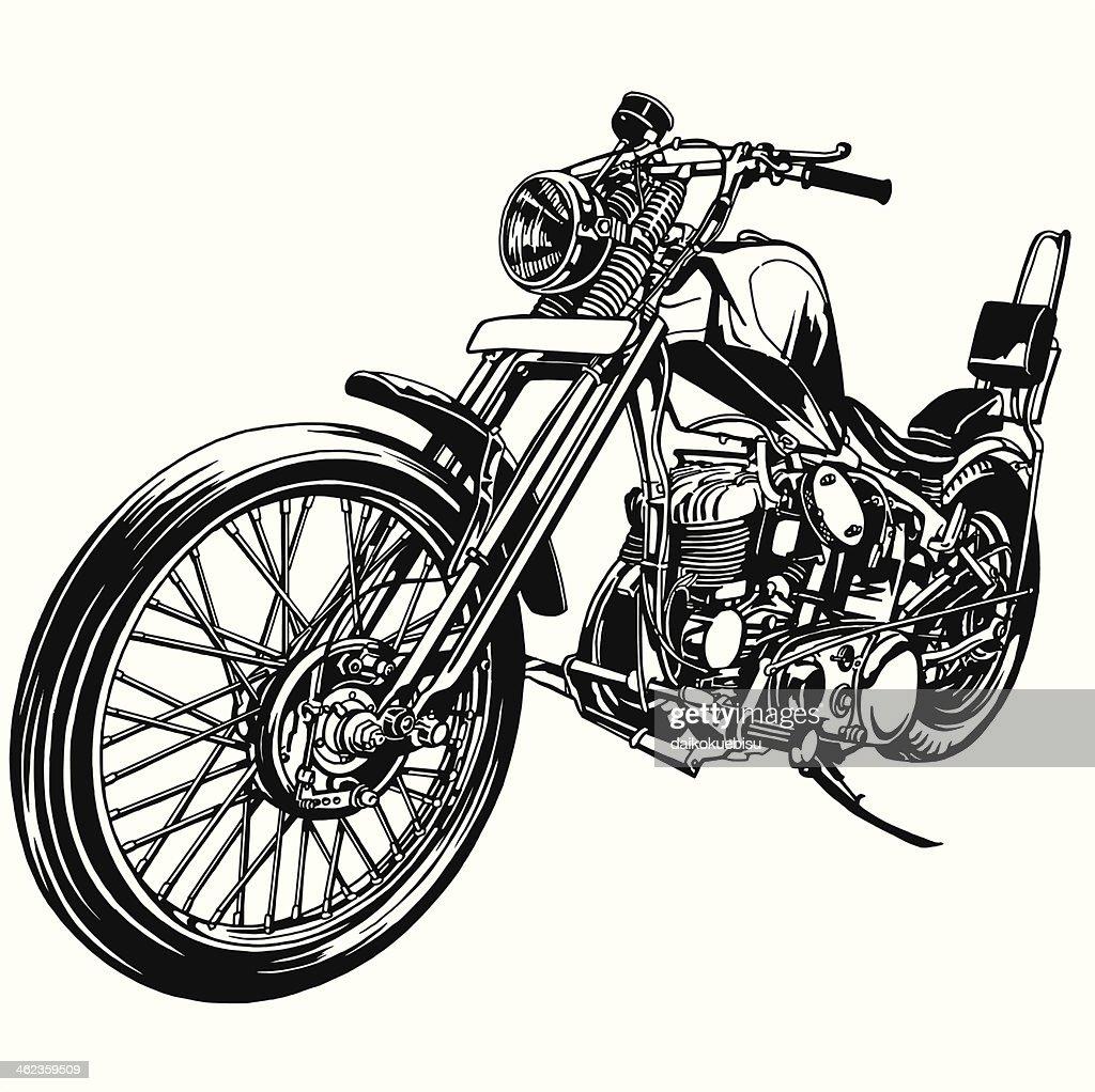 big motorcycle vector art thinkstock rh thinkstockphotos com harley motorcycle vector art free motorcycle vector art