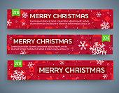 Big sale banner set. Christmas New Year theme. Vector