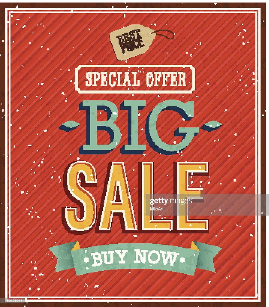 Big sale typographic design. : Vector Art
