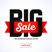 Big Sale Weekend, weekend special offer banner template, eps 10