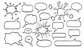 Big set of speech bubbles. Vector illustration. Isolated on white background.