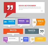 Big set of web banners with foot and bubble for a quote. Banner with leg for quotes, different colors and different shapes. Template banners for the Internet and advertising. Vector illustration