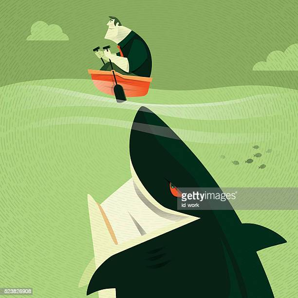 big shark attacking
