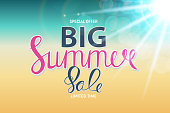 Big Summer Sale Abstract Background Vector Illustration EPS10