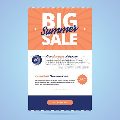 big summer sale newsletter template vector art thinkstock