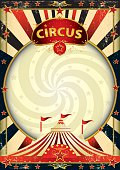 A vintage circus background with a texture for your entertainment