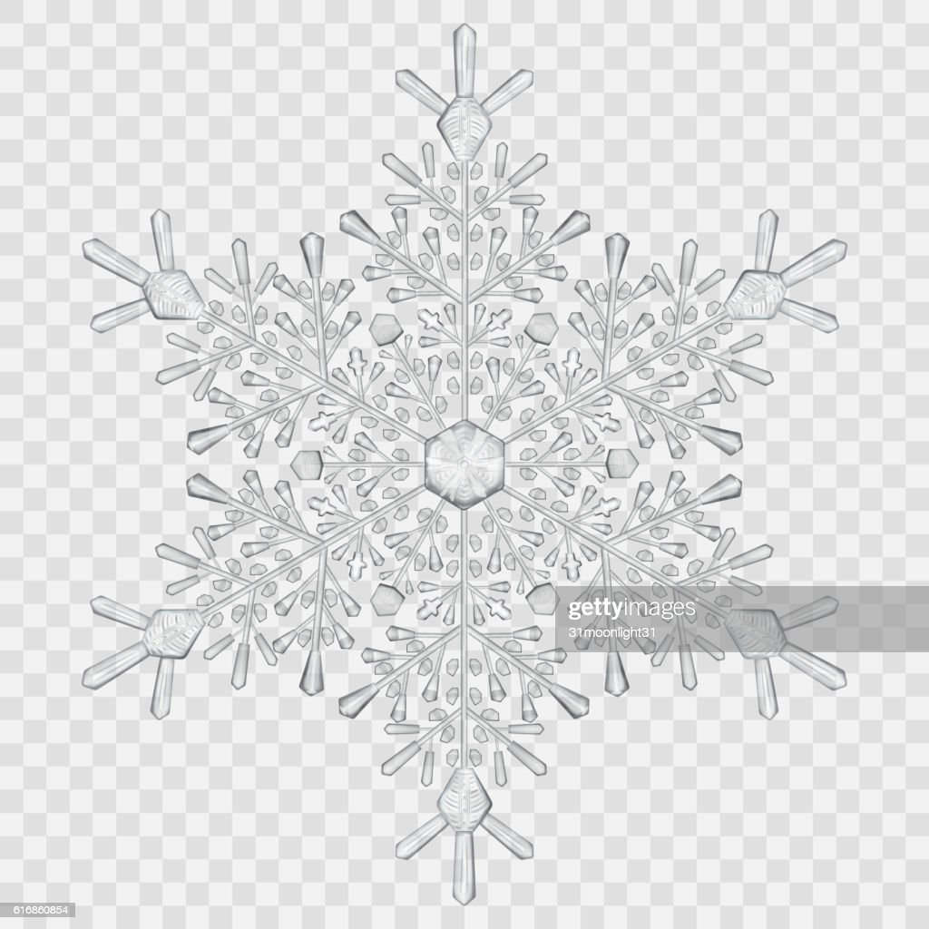 Big translucent crystal snowflake : Vector Art