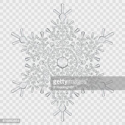 Big translucent crystal snowflake : Vector Art