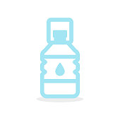 Big water bottle icon. Plastic container. Vector illustration, flat design