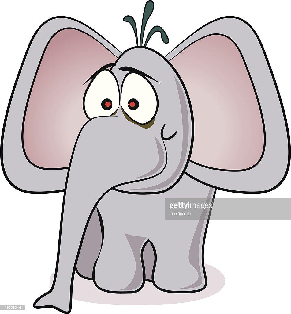 bigeared elephant cartoon vector art getty images