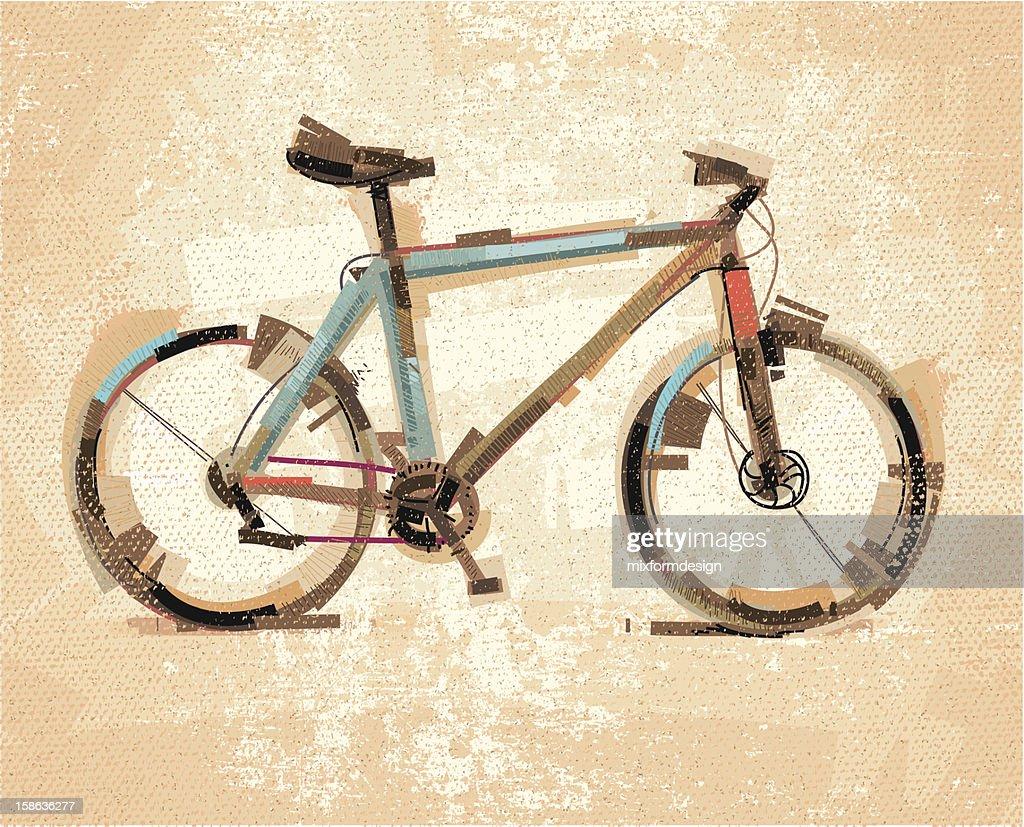 Bike Sktech : Vector Art