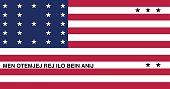 Vector of nice Bikini Atoll flag.