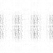 Binary code black and white background with two binary digits, 0 and 1 isolated on a white background. Halftone vector illustration.
