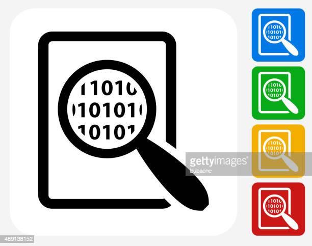 Binary Code Icon Flat Graphic Design
