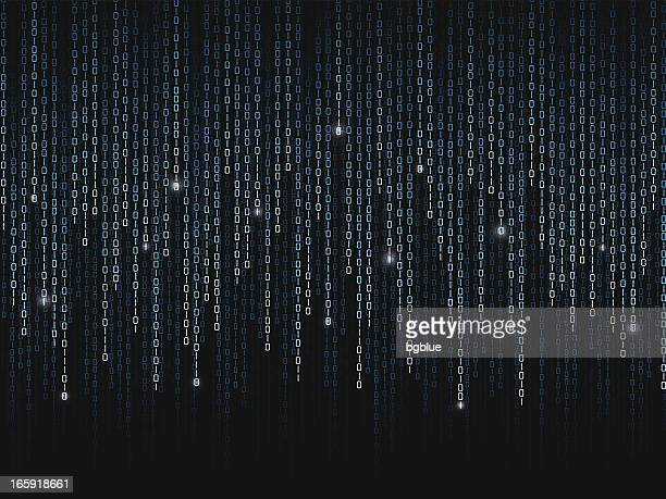 Binary code pattern on black background