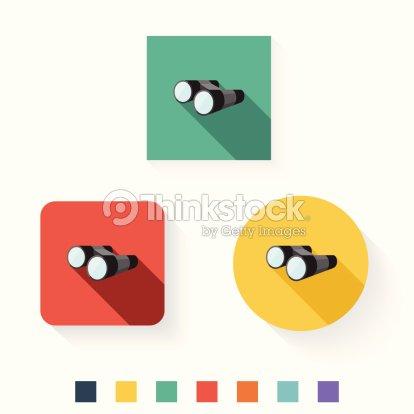 binoculars icon flat - photo #27
