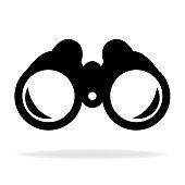 Binocular icon vector