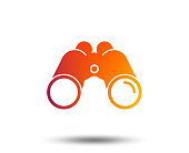 Binoculars icon. Find software sign. Spy equipment symbol. Blurred gradient design element. Vivid graphic flat icon. Vector