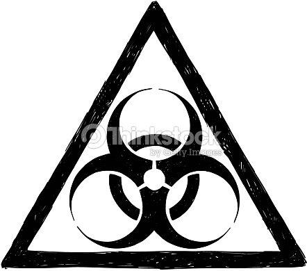 Biohazard Symbol Sign Vector Drawing Vector Art Thinkstock